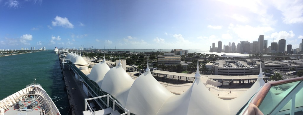 Panoramic Picture of Port of Miami